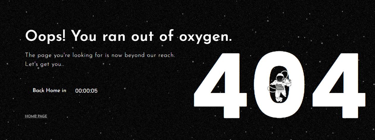 Пример оформления 404 страницы