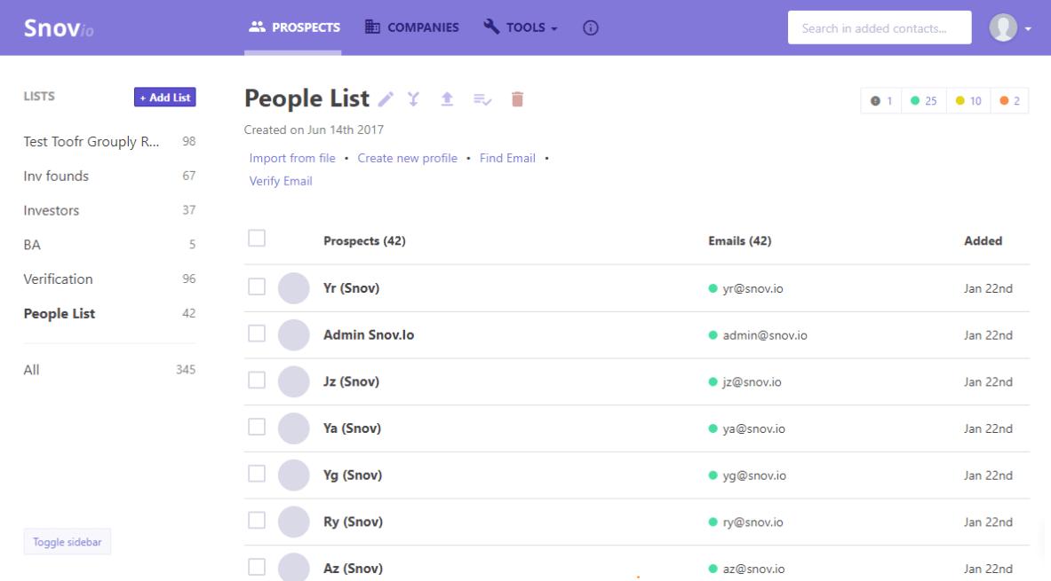 Snov.io — сервис лидогенерации автоматического поиска email-адресов