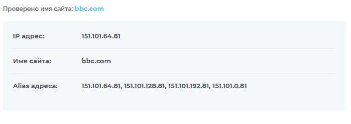 Как узнать IP-адрес сайта с помощью сервиса 2 IP