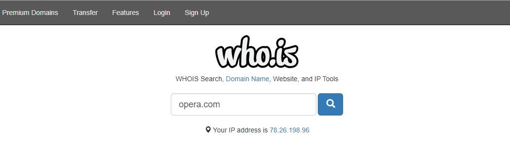 Как узнать IP-адрес сайта с помощью сервиса Whois