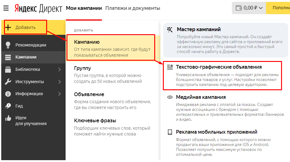 Как создать графические объявления в Яндекс.Директе