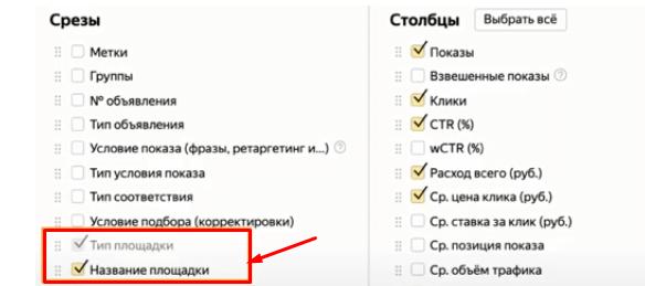 Параметр «Название площадки» в Яндекс.Директе
