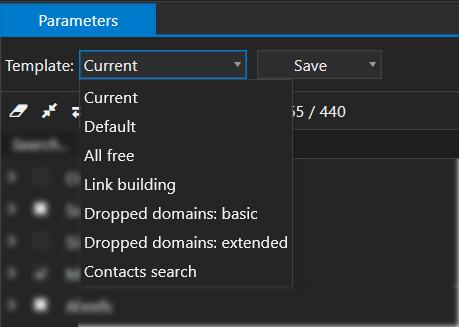 Parameter templates
