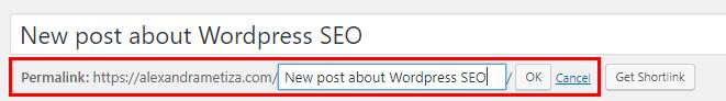 WordPress SEO: Generating page address