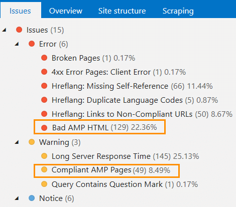 How to check AMP pages in Netpeak Spider