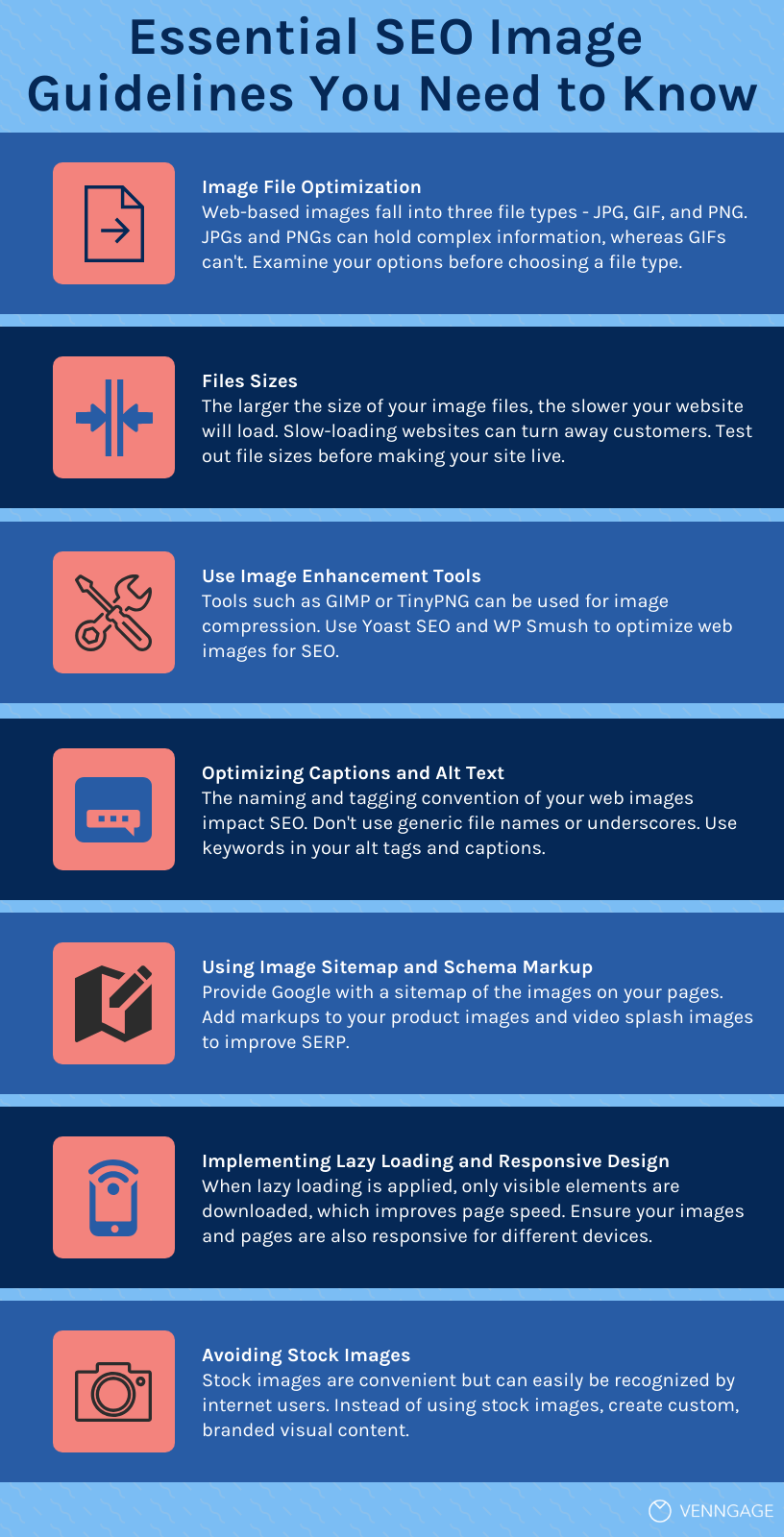 Infographic: essential image SEO guidelines you need to know