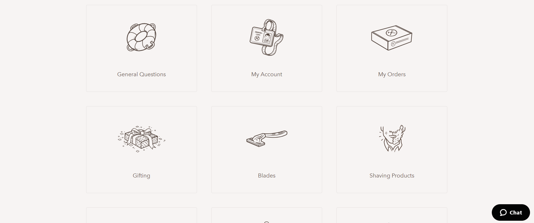 Example of hand-drawn icons on the website