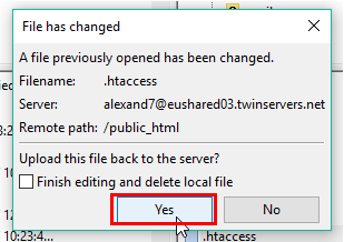 Uploading changes to server while moving to HTTPS