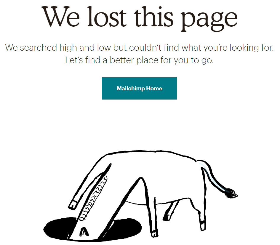 This is how a page with 404 error may look