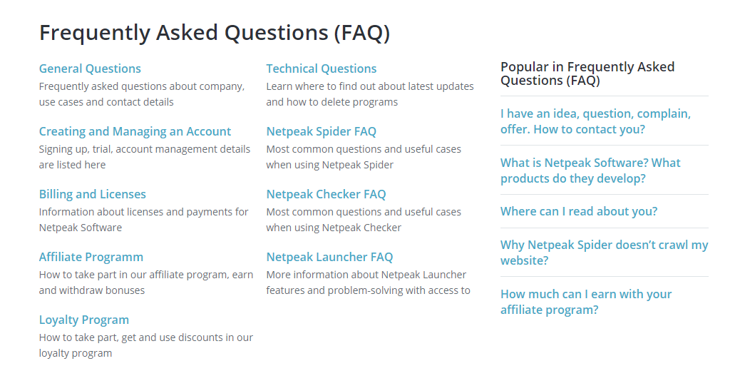 Netpeak Software FAQ