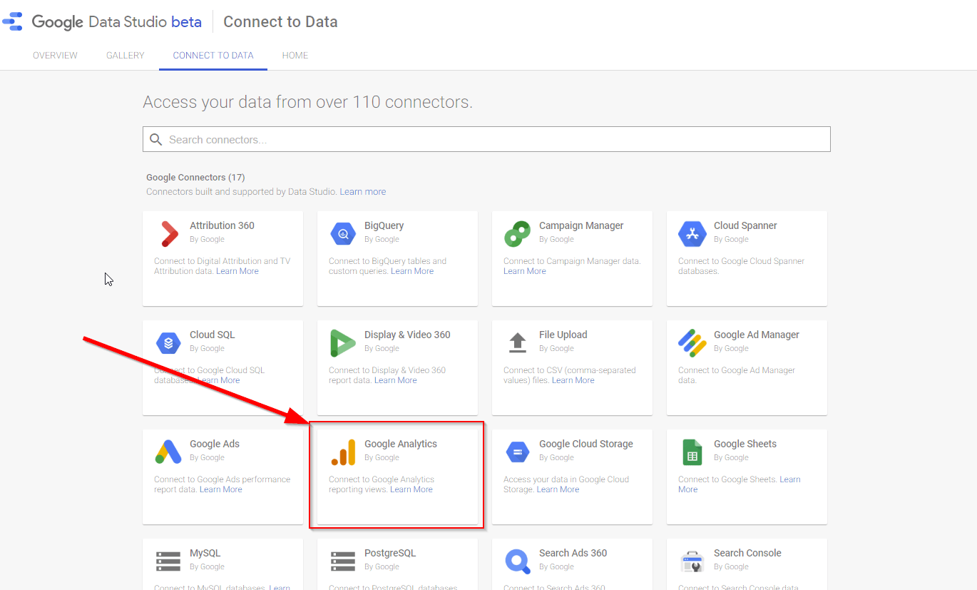 Connecting Google Analytics to your report 1