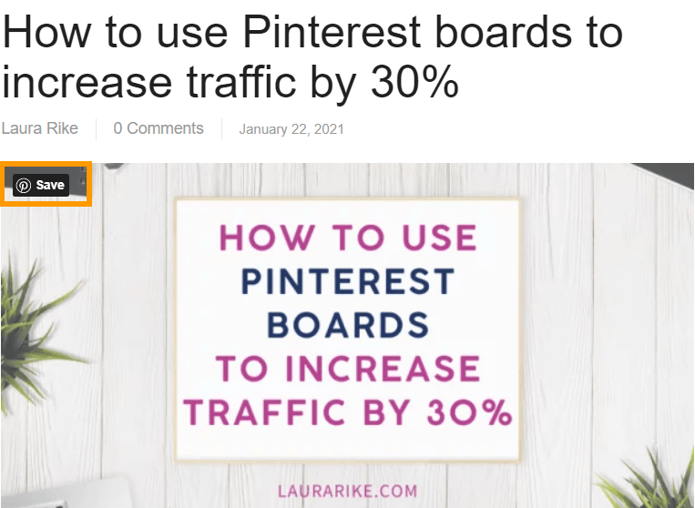 You can add the Pinterest 'Save' button to the images on your website