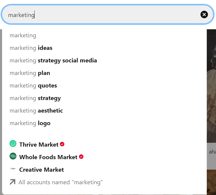 How to look for specific keywords in Pinterest