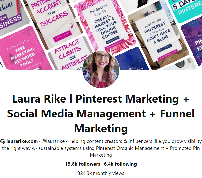 This is how the brand account in Pinterest looks like