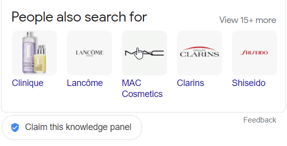 Hit the 'Claim this Knowledge Panel' button below the box if your brand appears when users search for your brand keywords