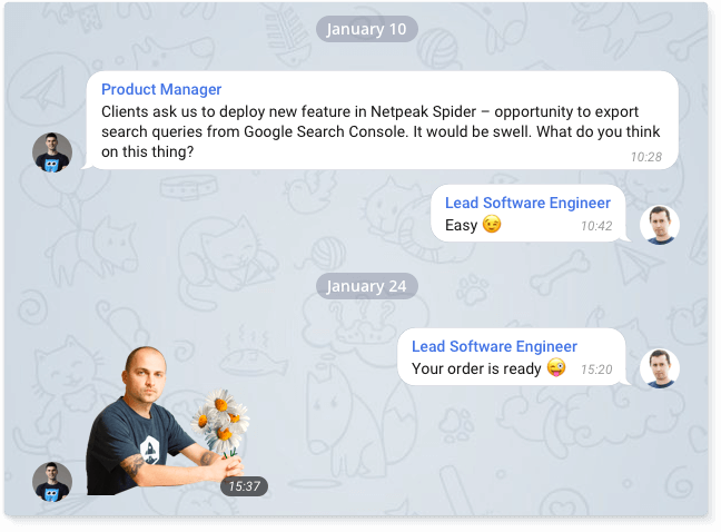 This is how our Product Manager suggested cool feature, and Lead Software Engineer managed to implement it in just two weeks