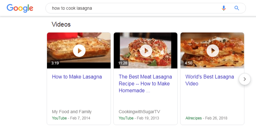 YouTube videos more often appear on SERPs than videos from any other source
