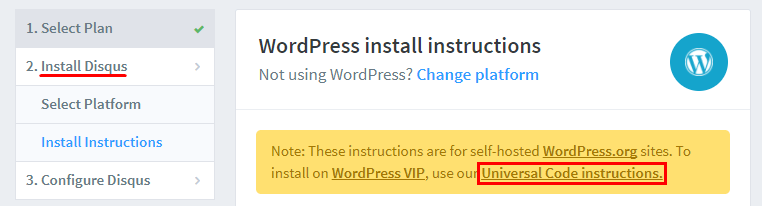 Installing Disqus in WordPress