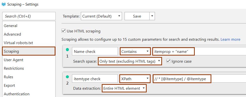Checking Schema Markup using Netpeak Spider