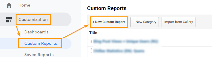 Custom report in Google Analytics to track KPIs of guest posts