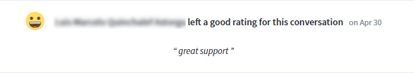 Succinct feedback about support team