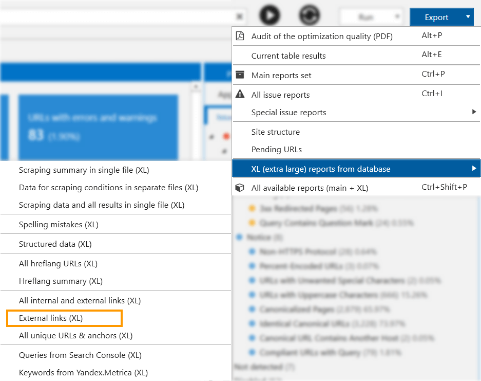 How to monitor links back to you in Netpeak Spider