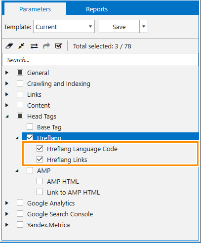 How to check hreflang tag in Netpeak Spider