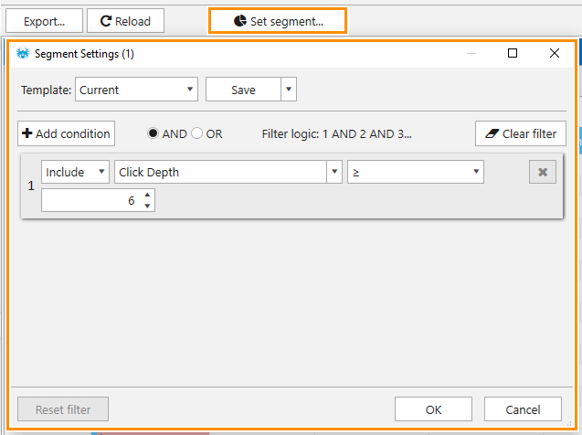 How to find pages that are far from the main page using the Netpeak Spider