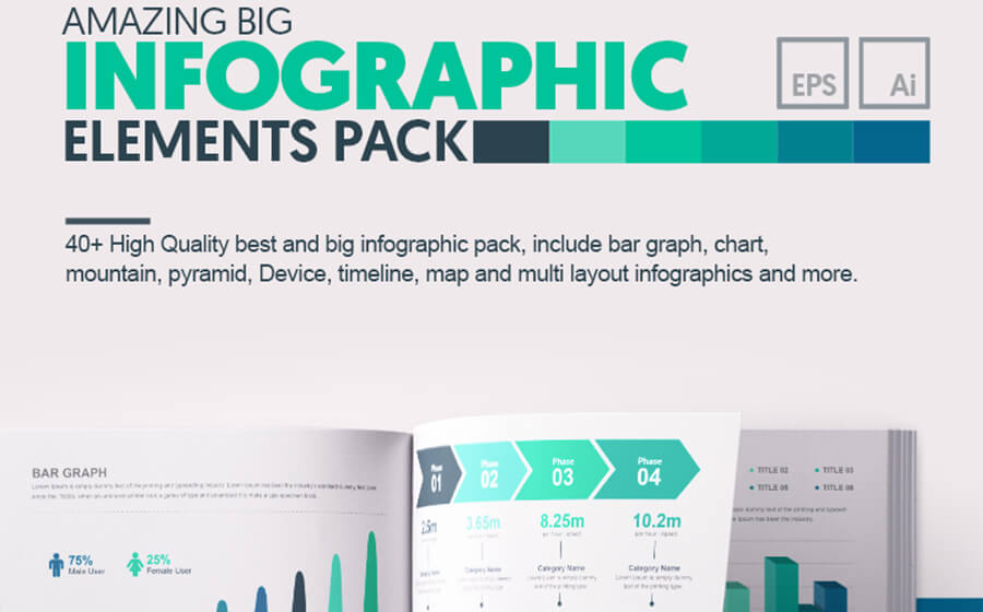 Amazing big infographic elements pack