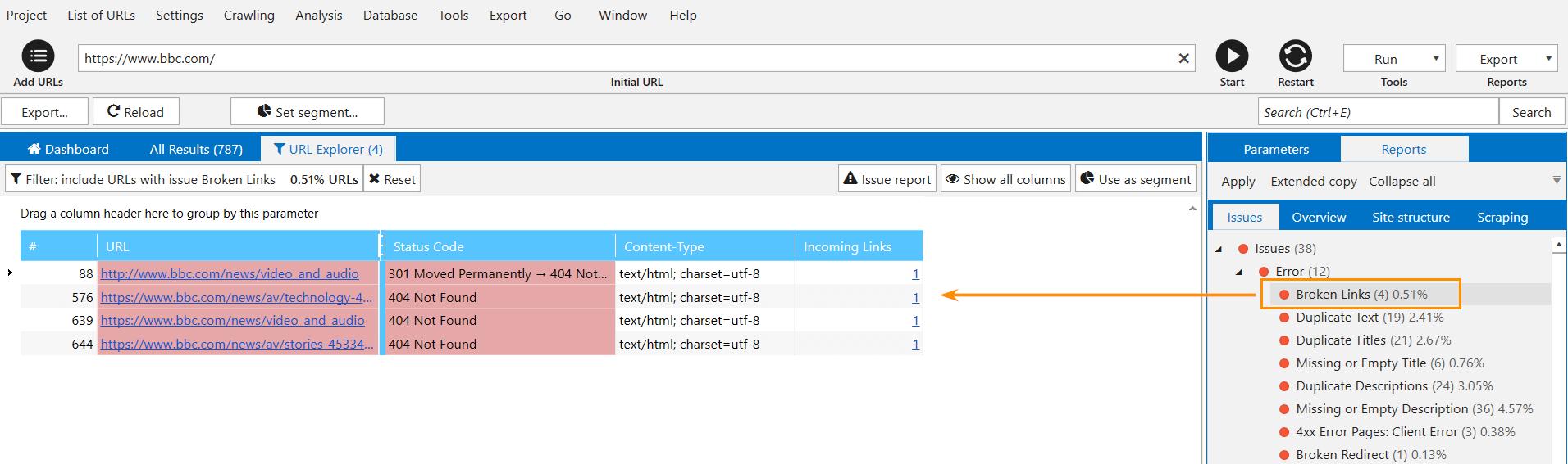 How to Find Broken Links on Your Website with Netpeak Spider screenshot 2