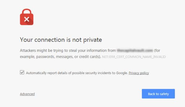 Anti-Advice: Browser Warning of Insecure Connection
