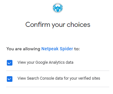 Add new Google account to Spider