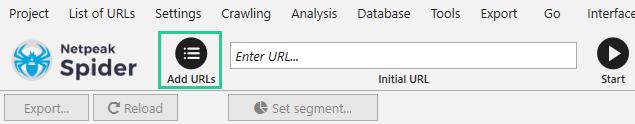 using List of URLs
