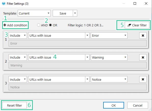 Filter Settings