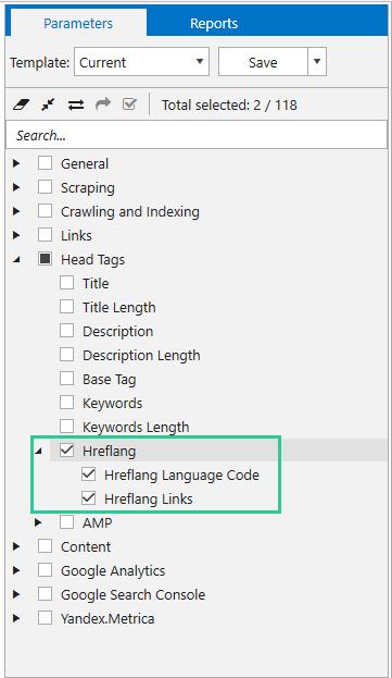 Hreflang parameters