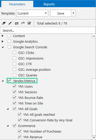 get data from Yandex Metrica