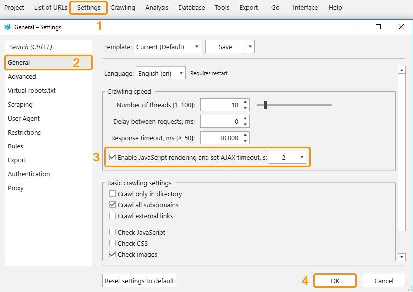 Enable JavaScript rendering