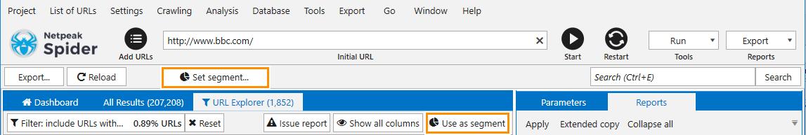 Cut off a certain data segment