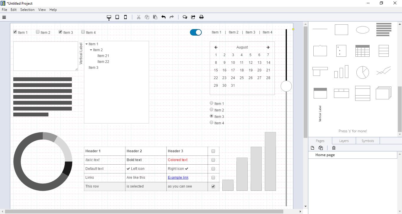 Программы прототип сайта: FlairBuilder