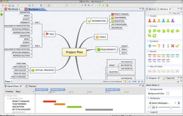 Программы прототип сайта: Xmind
