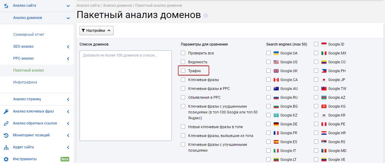 Как узнать посещаемость сайта с помощью сервиса Serpstat