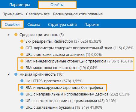 Как настроить получение данных из Яндекс.Метрики в Netpeak Spider