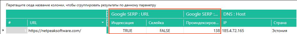Netpeak Checker: Индексация