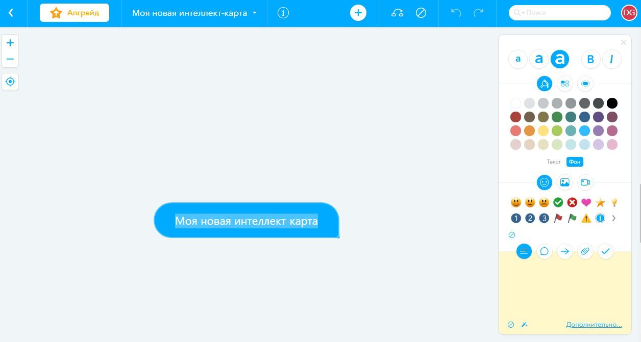 Сервис Mindmeister