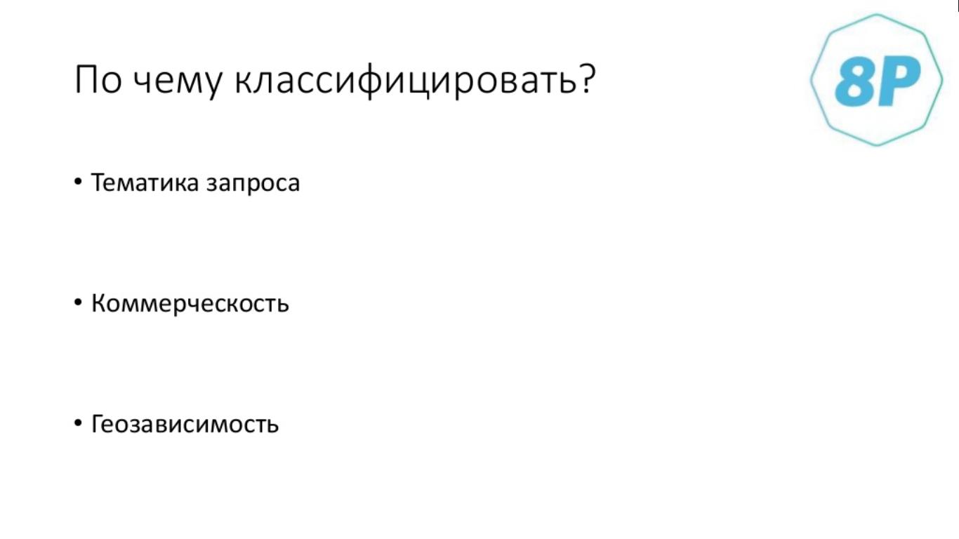 Классификация запросов