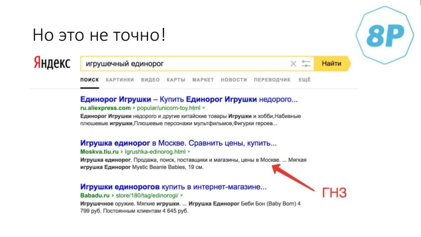 Примеры в поисковой выдаче
