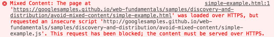 Уведомление о блокировке страницы браузера Google Chrome