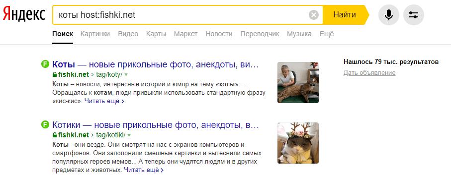 Поисковые операторы Яндекс