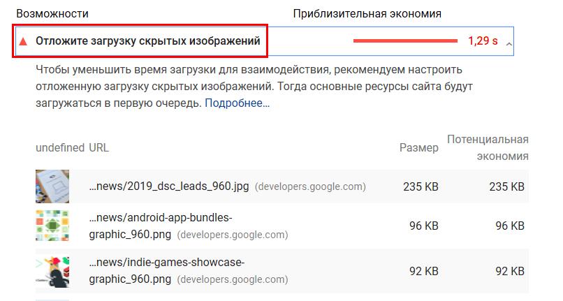 Как посмотреть рекомендации по ускорению загрузки в PageSpeed Insights
