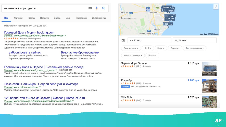 Запрос гостиницы у моря Одесса